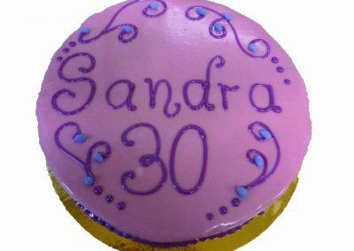 Geburtstagstorte Sandra zum 30