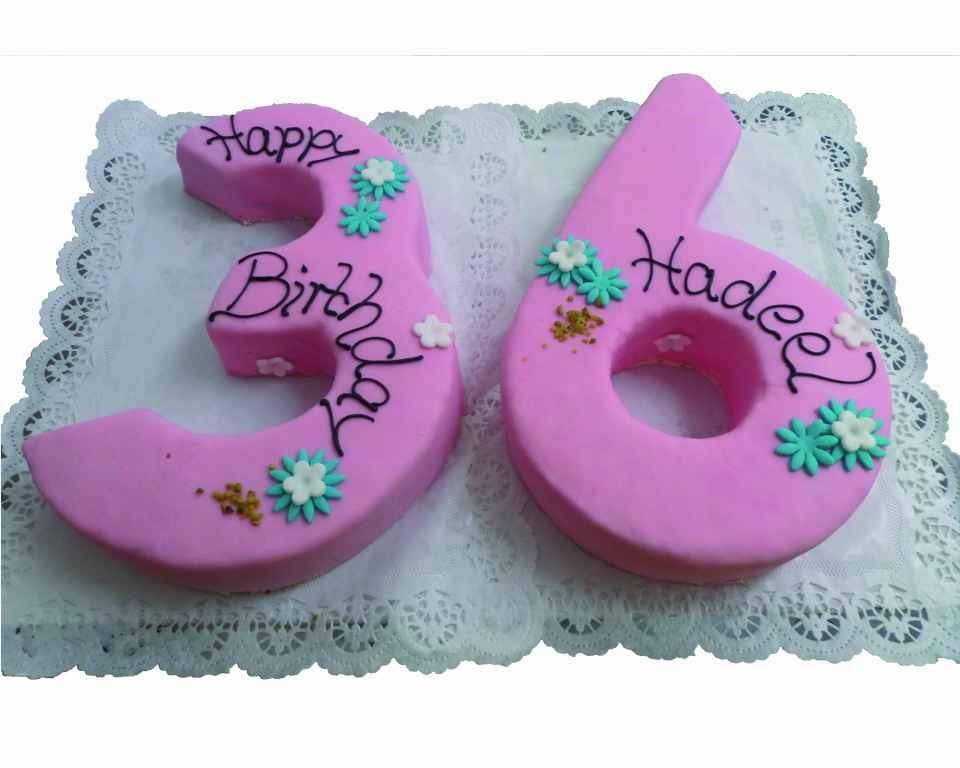 Geburtstagstorte als Zahl 36