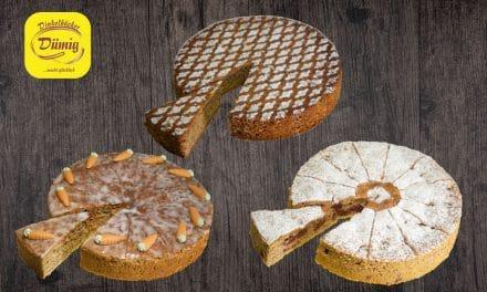 Drei neue im Onlineshop. Rübli- Mandel- und Kirschnusskuchen