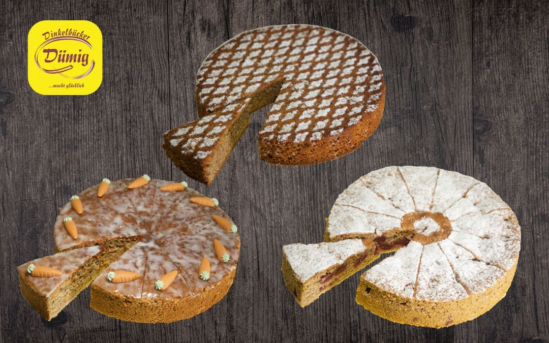 Drei neue Kuchen im Onlineshop